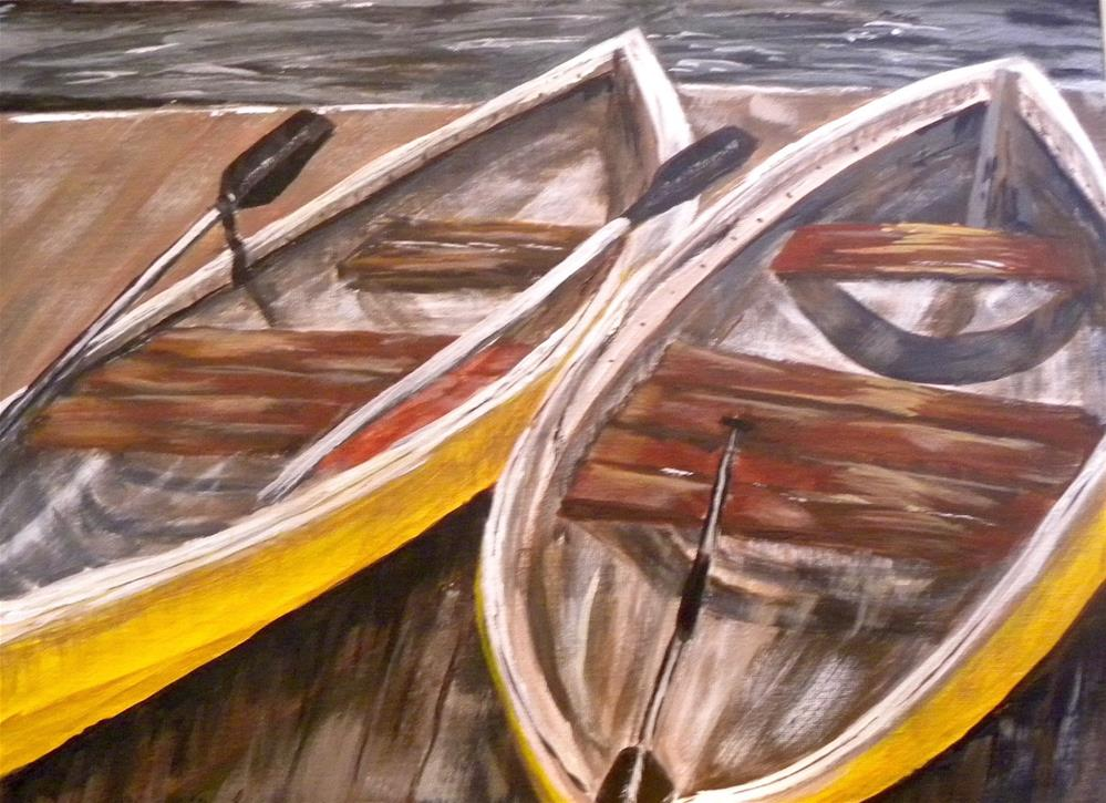 """Done Paddlin''"" original fine art by cheryl buhrman"