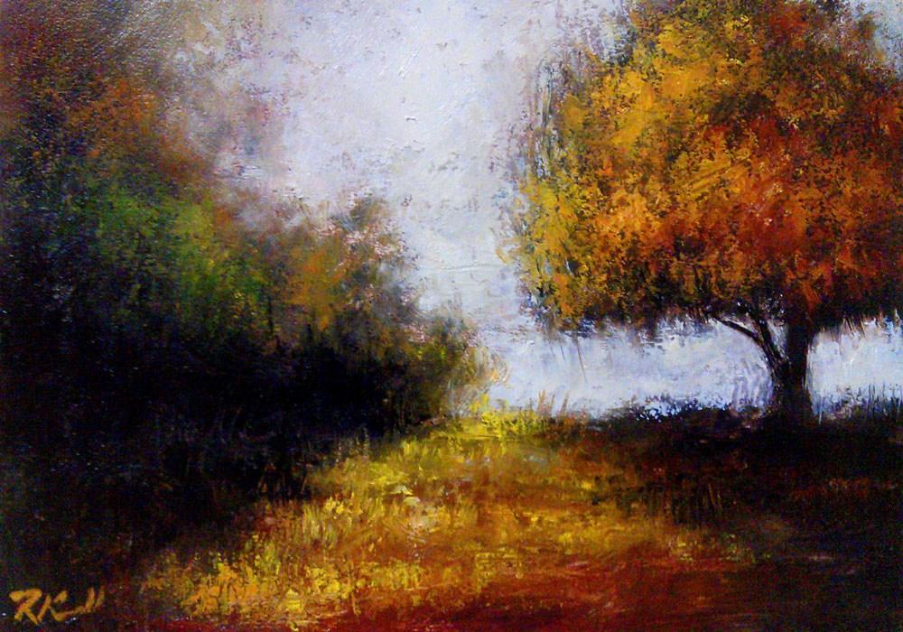 """Tree and Wild Grass"" original fine art by Bob Kimball"