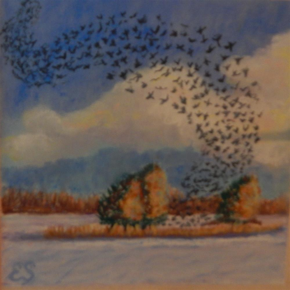 """Birds on the Wing"" original fine art by Elaine Shortall"