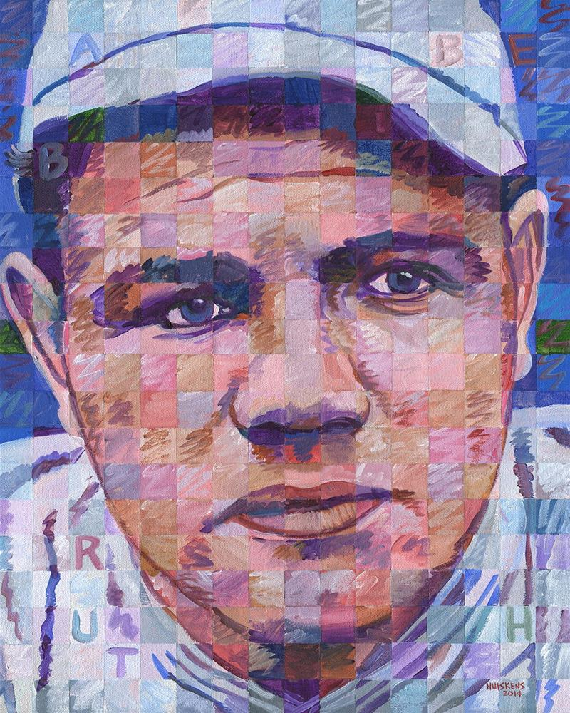 """Babe Ruth"" original fine art by Randal Huiskens"