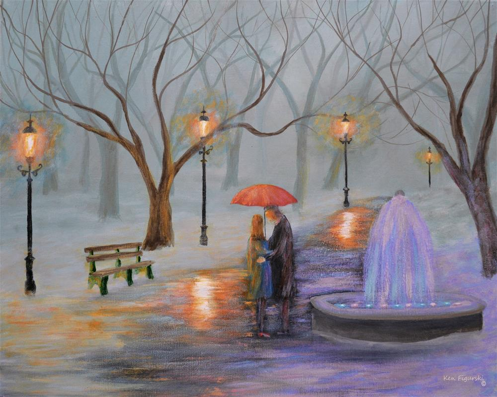 """Romance In The Park"" original fine art by Ken Figurski"