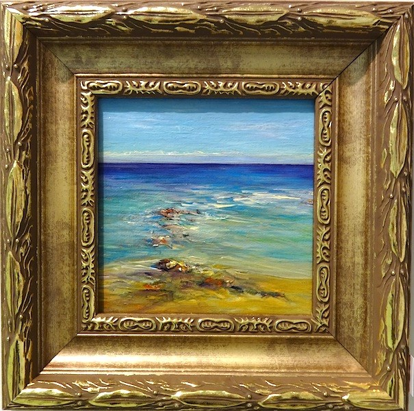 """2087 - Framed - Magical C - Gold Frame"" original fine art by Sea Dean"