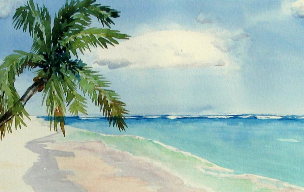 """Beaches of Tulumn"" original fine art by Crisynda Buss"
