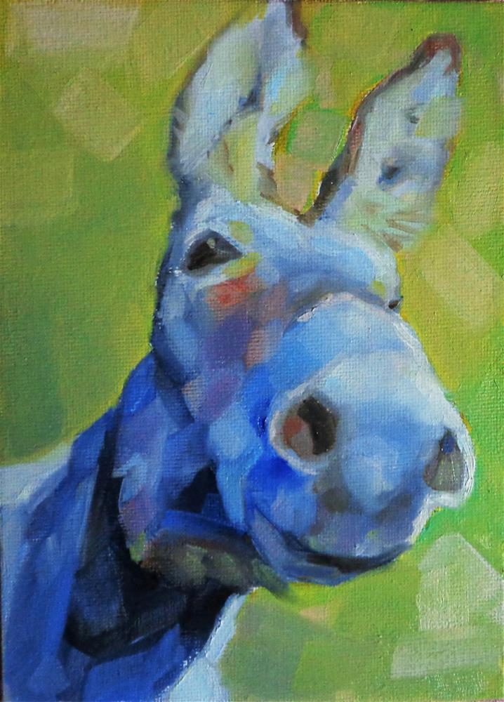 """""""Donkey"""" original fine art by Maria Z."""