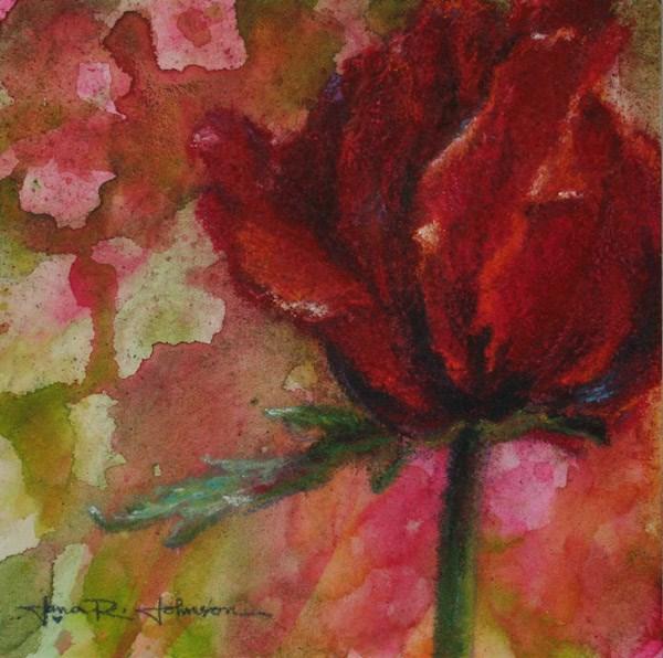 """Closed Poppy"" original fine art by Jana Johnson"