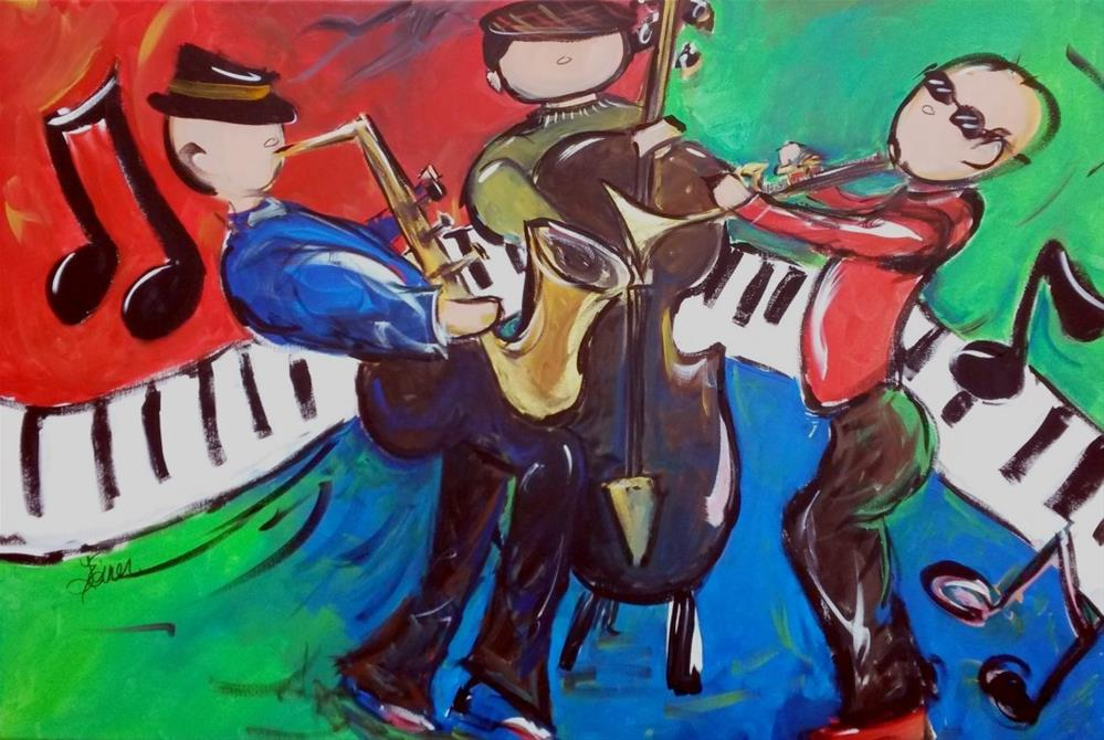 """""""Jazz ensemble"""" original fine art by Terri Einer"""