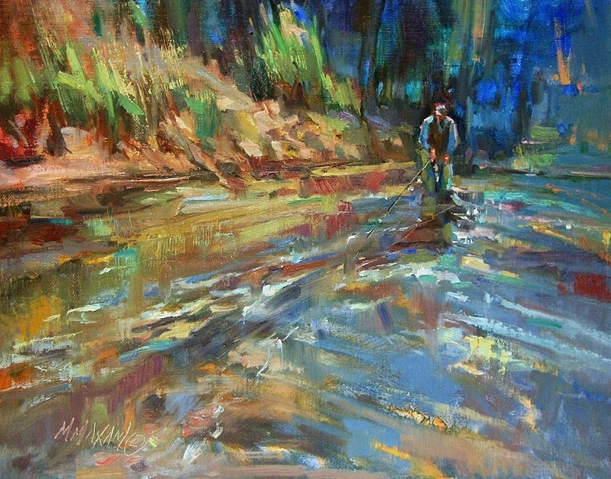 """Blue Fly"" original fine art by Mary Maxam"