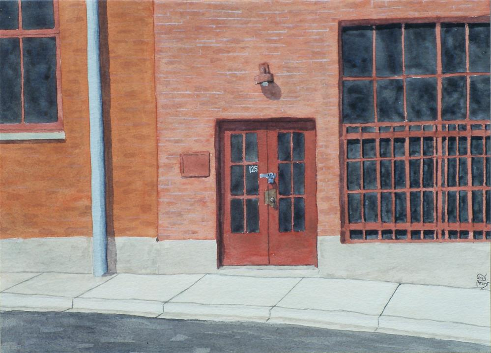 """125 N. Center St."" original fine art by Greg Arens"