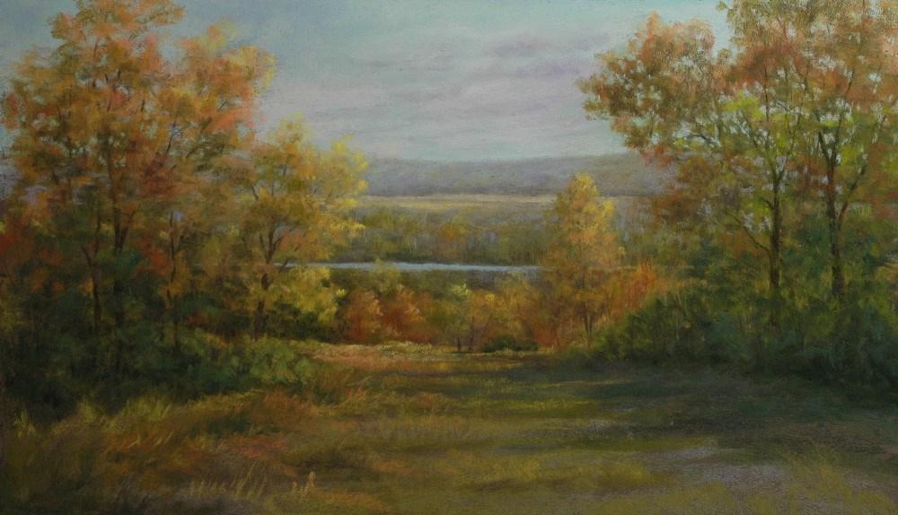 """October Hilltop"" original fine art by Susan Klabak"