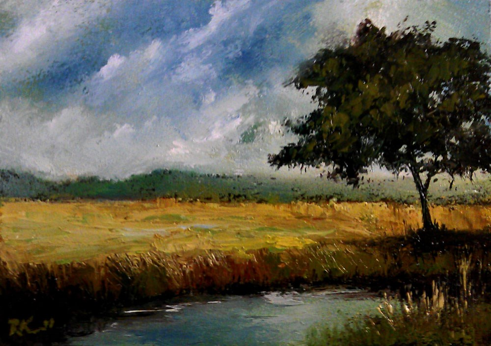 """Prairie River"" original fine art by Bob Kimball"