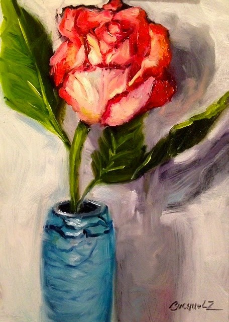 """Rose Nouveau"" original fine art by Terri Buchholz"
