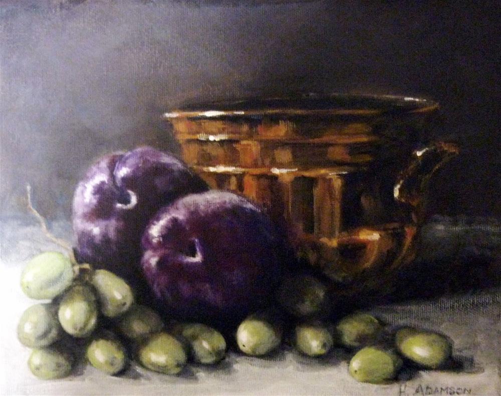 """Plum Royale"" original fine art by Helene Adamson"