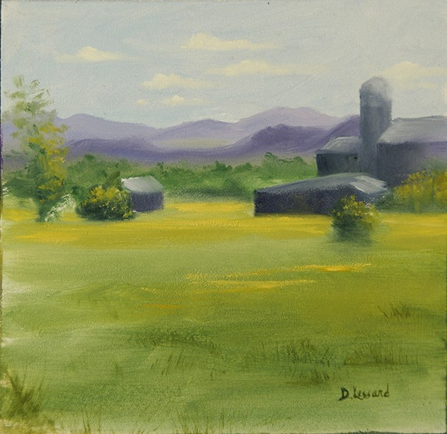 """NH Farmland #1410"" original fine art by Dee Lessard"