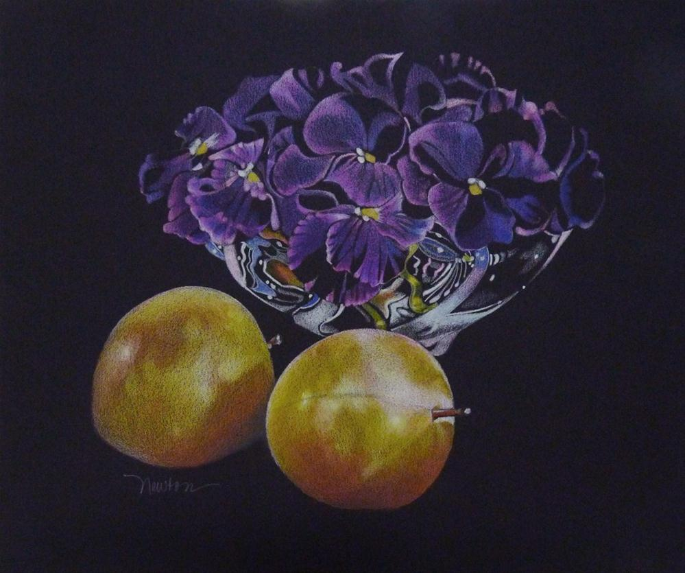 """Plums and Violets"" original fine art by Barbara Benedetti Newton"