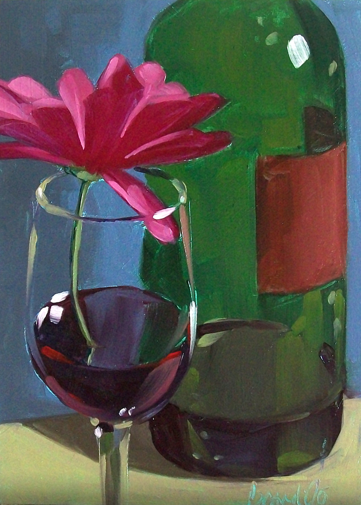 """wino daisy2"" original fine art by Brandi Bowman"