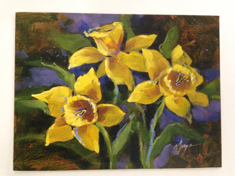 """Daffodils"" original fine art by Margie Whittington"