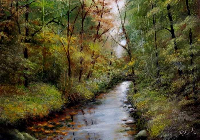 """The River"" original fine art by Bob Kimball"