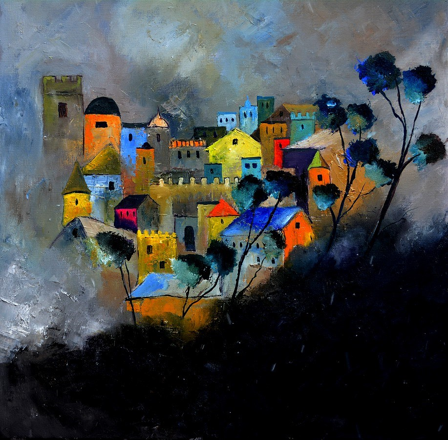"""castle memories"" original fine art by Pol Ledent"