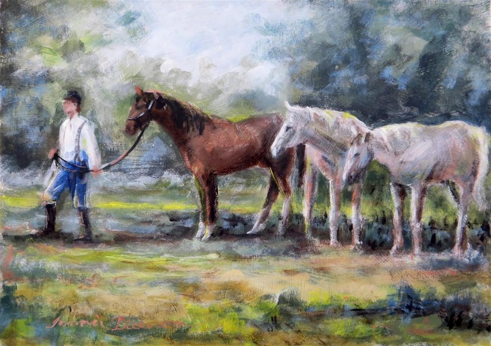 """Follow the Leader"" original fine art by Tammie Dickerson"