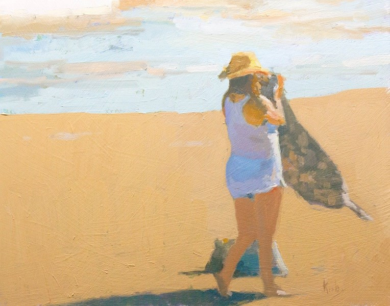 """Sea Breeze"" original fine art by Randall Cogburn"