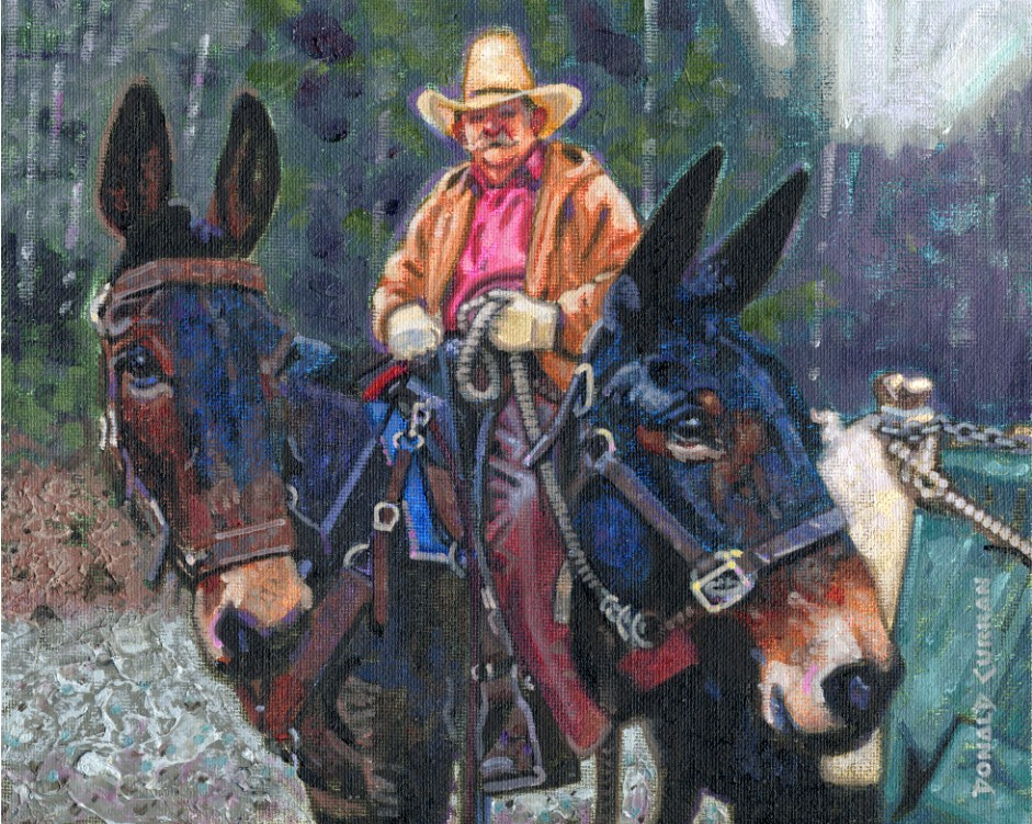 """An Old Cowboy"" original fine art by Donald Curran"