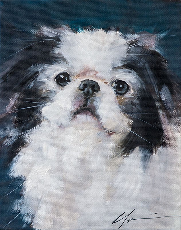 """PAINT MY DOG - Lucy"" original fine art by Clair Hartmann"