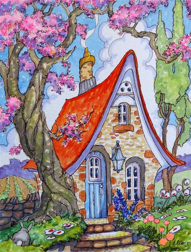 """""""Divinely Downsized Storybook Cottage Series"""" original fine art by Alida Akers"""