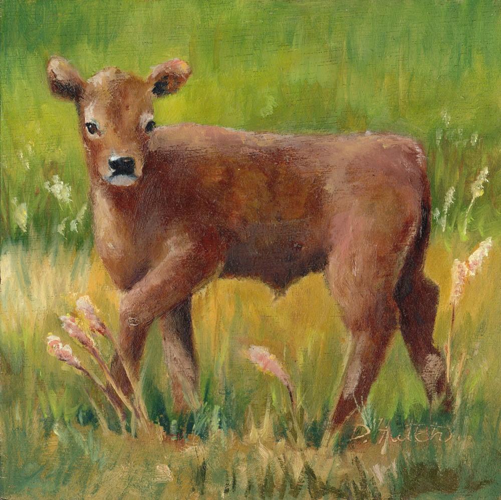 """Calf"" original fine art by Diane Hutchinson"