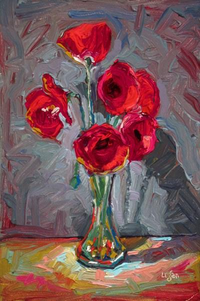 """Iceland Poppies"" original fine art by Raymond Logan"