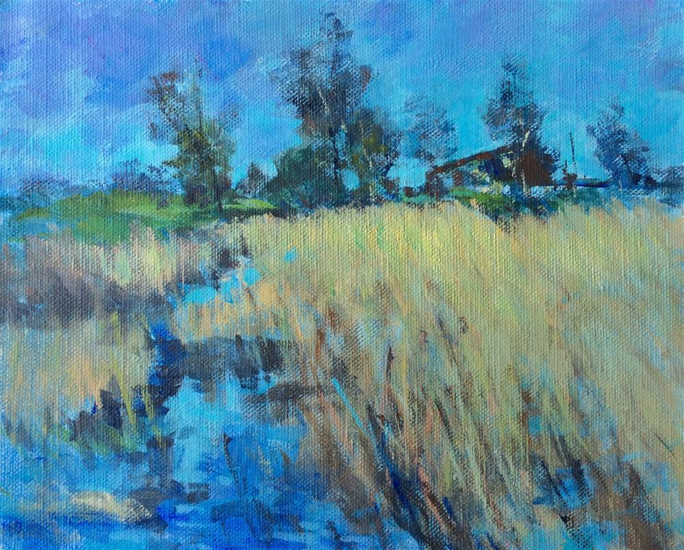 """The Marshes at Kitzi"" original fine art by John Shave"