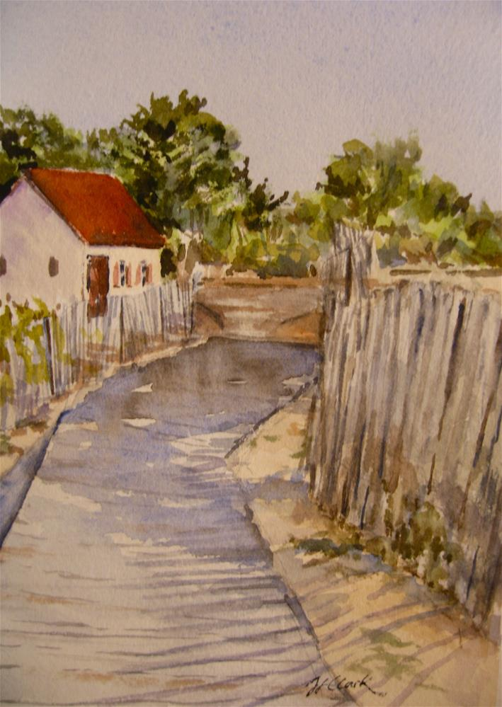"""Sun-Showered Boardwalk"" original fine art by Judith Freeman Clark"