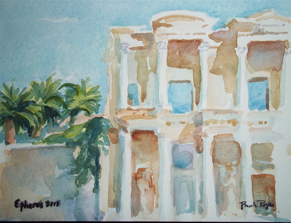 """Ephesus 2013"" original fine art by Pamela Jane Rogers"