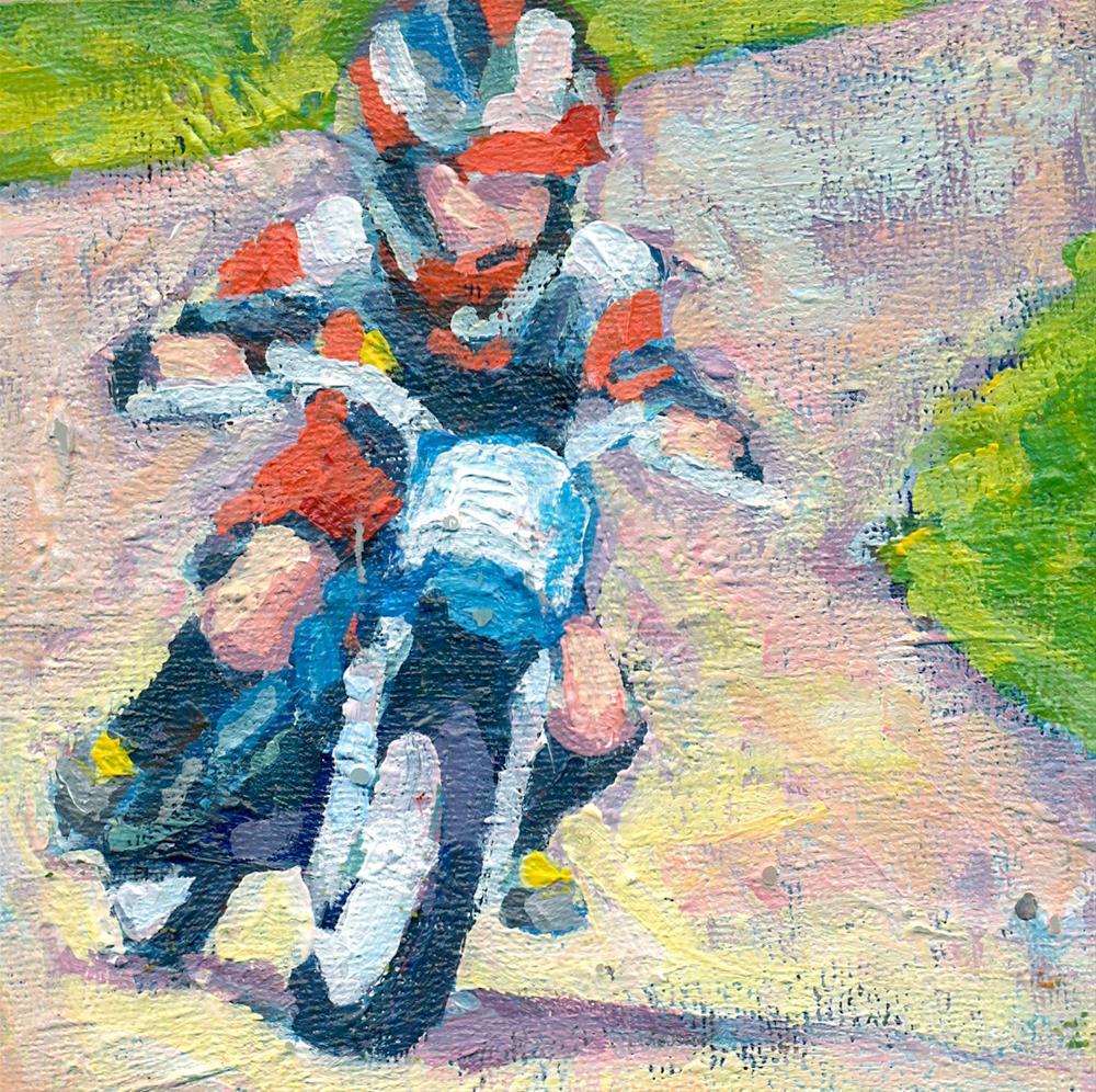 """too fast"" original fine art by Shelley Garries"