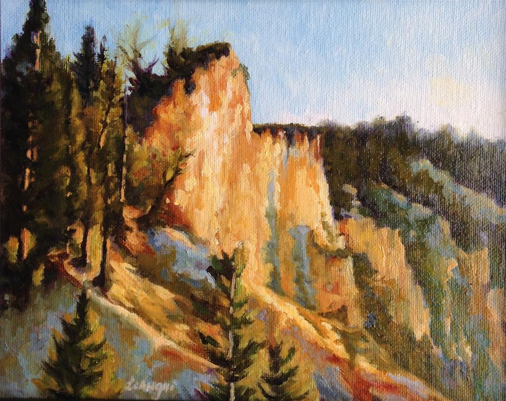 """""""Canyon light"""" original fine art by Frank and Liangni Nelson"""