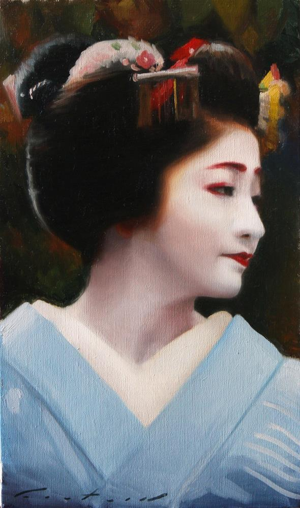 """Portrait of Satsuki"" original fine art by Phil Couture"