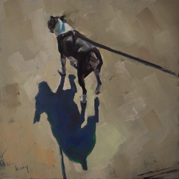 """Shadow Walk 7"" original fine art by Kathleen Coy"