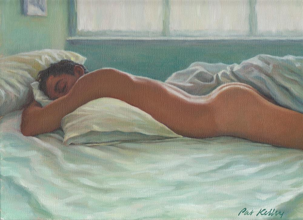 """Man Sleeping in Morning Light"" original fine art by Pat Kelley"