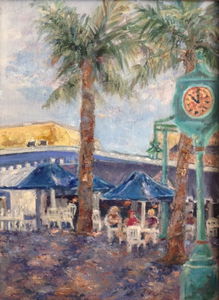 """Plakos at Ft. Myers Beach"" original fine art by Judy Usavage"