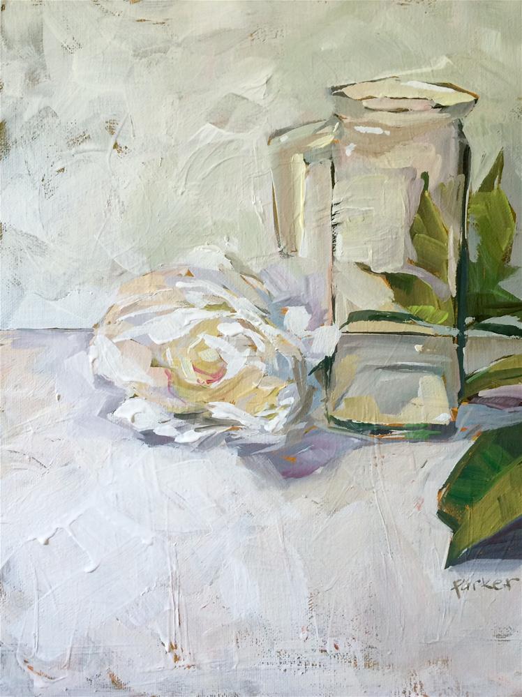 """White Study No.2"" original fine art by Teddi Parker"