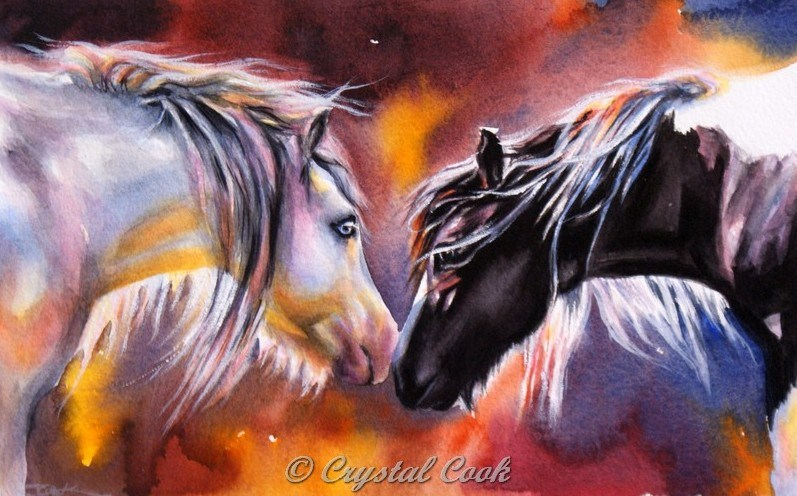 """No Words Required"" original fine art by Crystal  Cook"