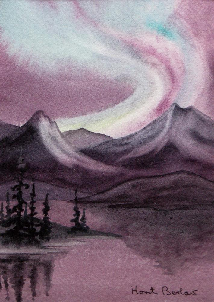 """Aurora Borealis"" original fine art by Horst Berlow"