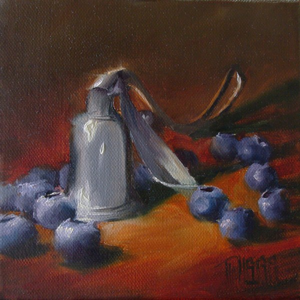 """Candle Snuffer"" original fine art by Lori Twiggs"