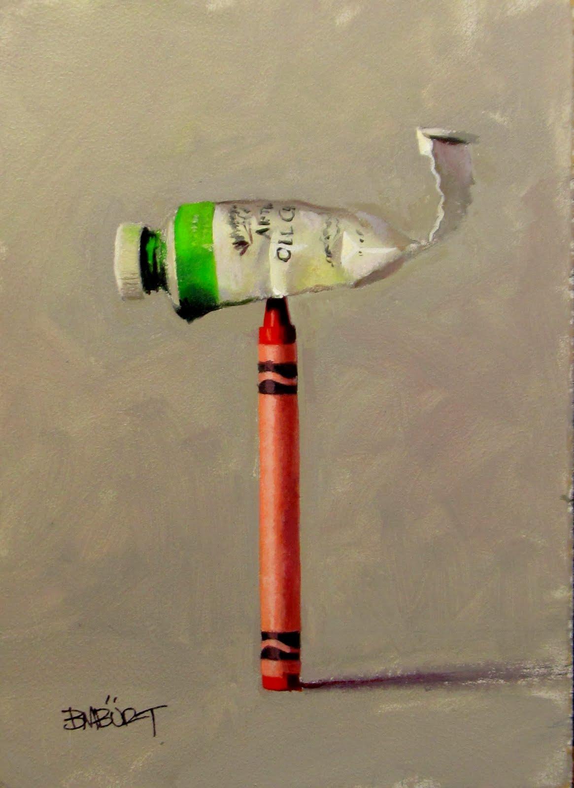 """ART 4 DIAPERS (DAILY DIAPER #162) Complimentary Balance"" original fine art by Brian Burt"