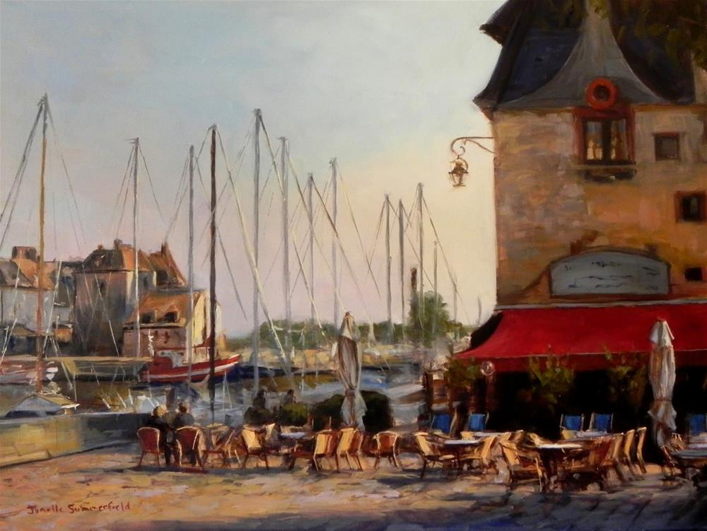 """View of Honfleur"" original fine art by Jonelle Summerfield"