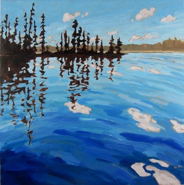 """Little Lynx Lake"" original fine art by Nicki Ault"