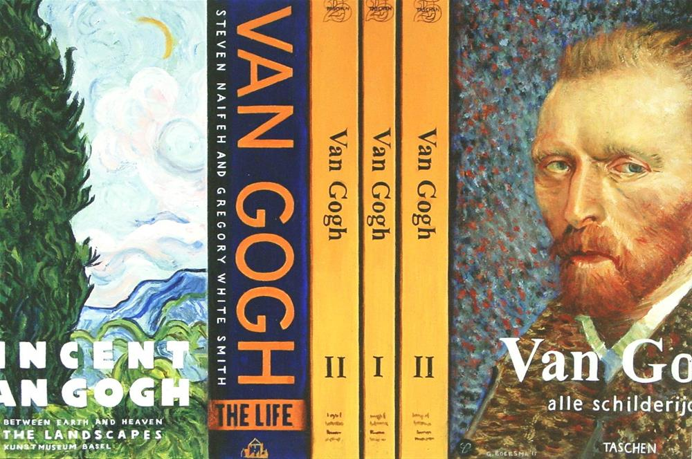 """Van Gogh Books- Still Life Painting Of Books On Vincent Van Gogh"" original fine art by Gerard Boersma"