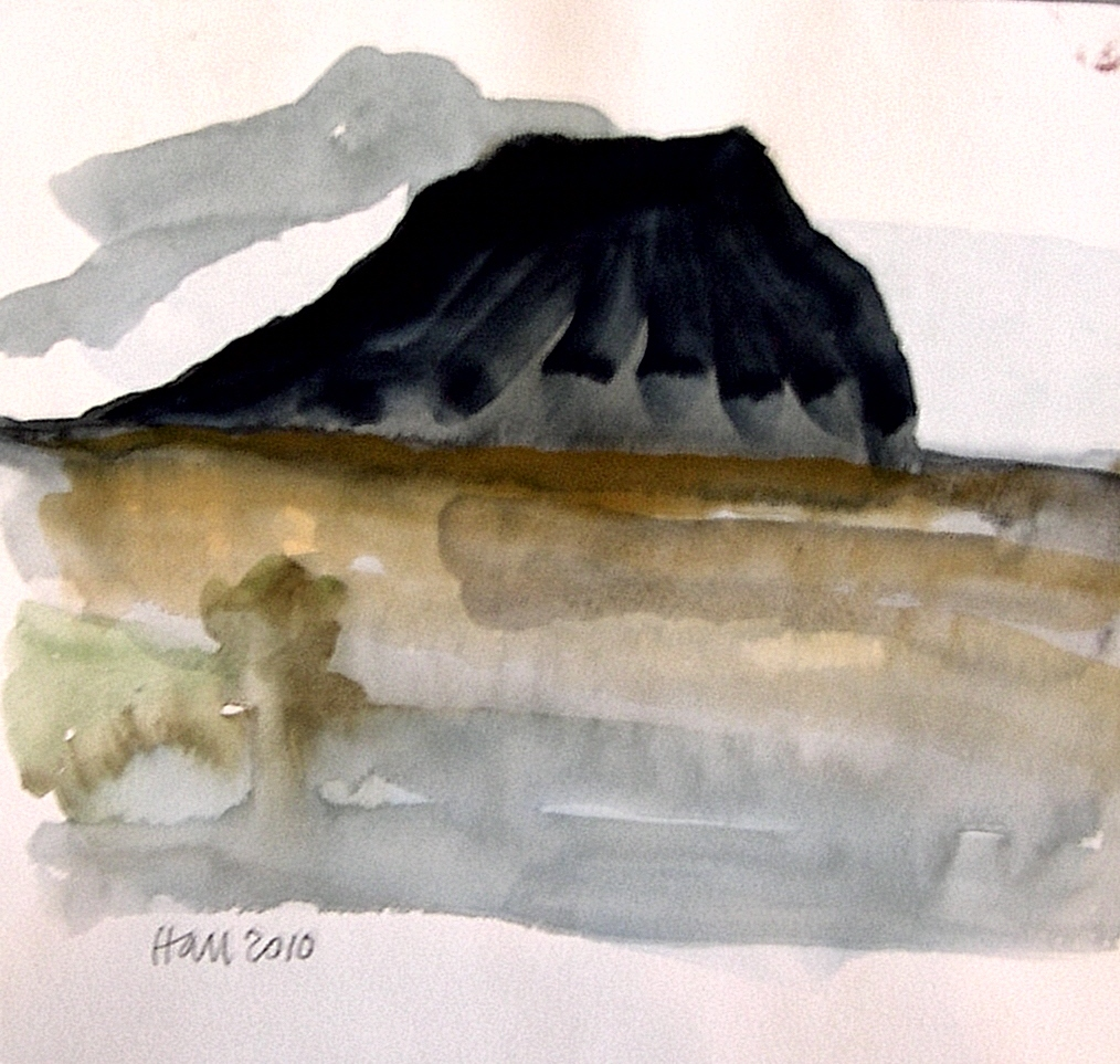 """Black Mesa"" original fine art by Nancy Hall"
