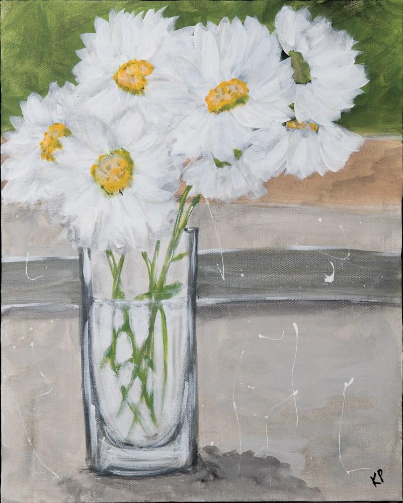 """Daisies"" original fine art by Kali Parsons"