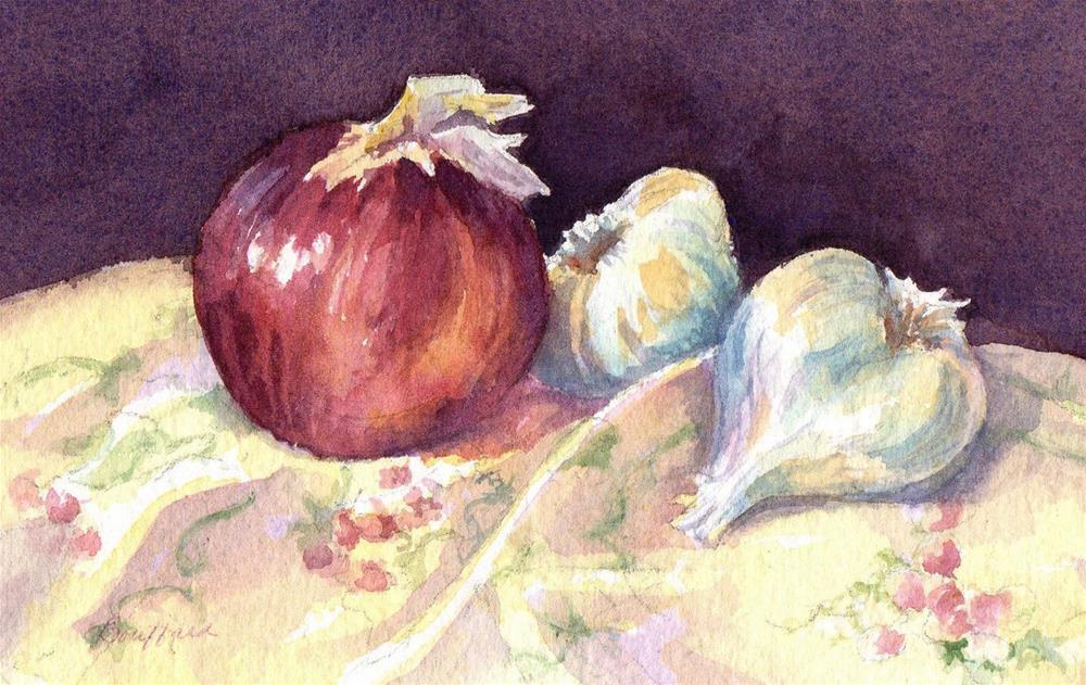 """Onion and Garlic - January Studio Sale"" original fine art by Vikki Bouffard"