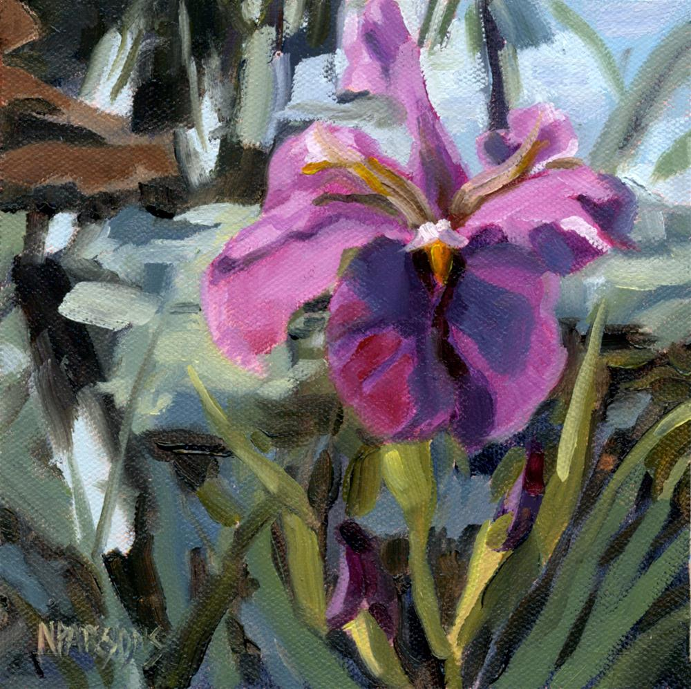 Iris Eyes Are Smiling original fine art by Nancy Parsons